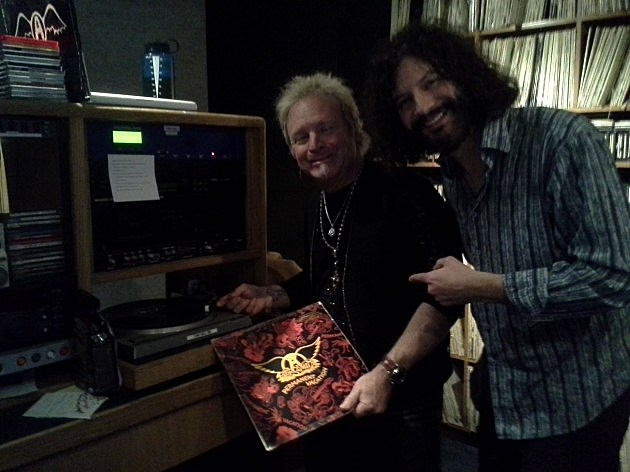 Joey Kramer at WBLM with The Guru