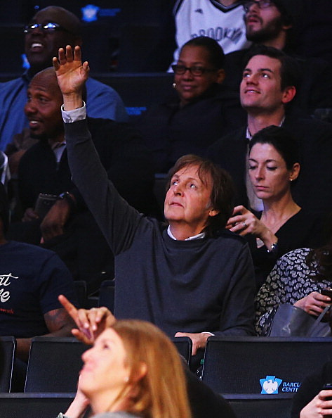 Paul McCartney at Nets Game