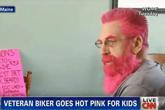 Hot Pink Bearded Biker