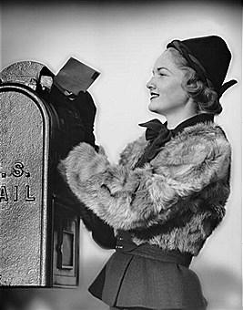 lady at mailbox