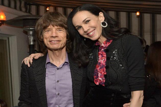 L'  Wren Scott and Mick Jagger