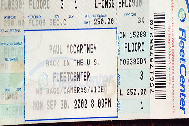 McCartney Ticket