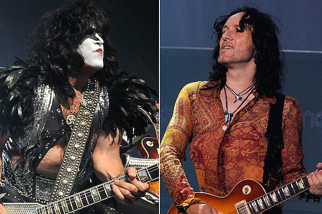 Paul Stanley of Kiss and Vivian Campbell of Def Leppard