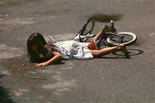 Bike wipe out