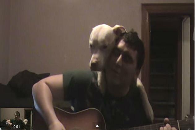 Singing to a dog