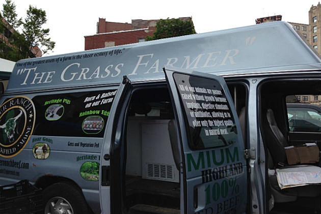grass farmer truck