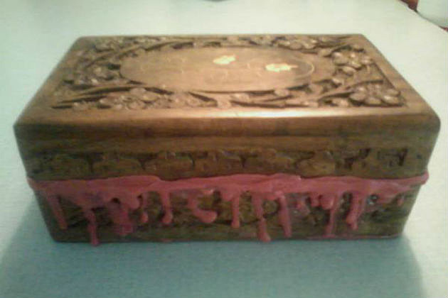 creepy wooden box