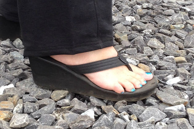 high heel flip