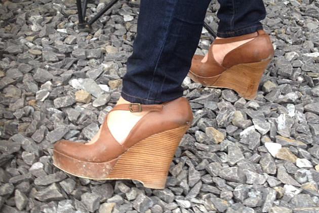 wood stack heel