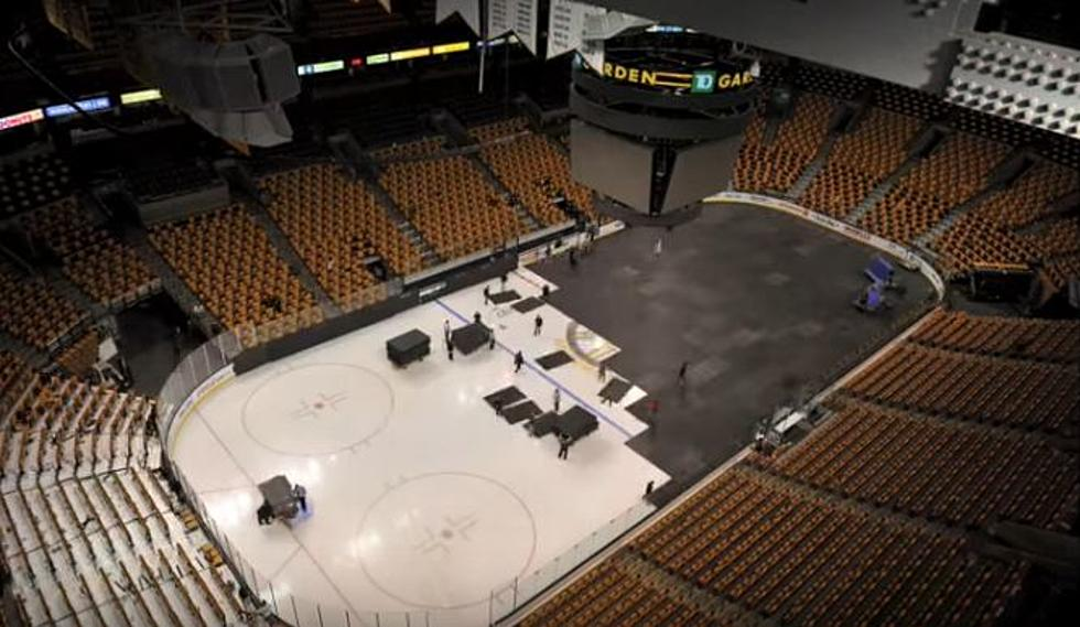 watch the td garden change over from hockey to basketball in the same day - Td Garden