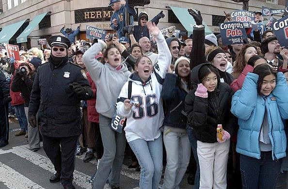 Patriots Victory Parade X Fans
