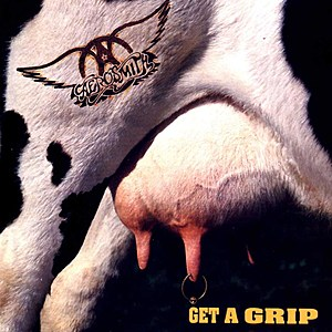 """Get A Grip"" album cover, April 1993. (Courtesy of Geffen Records)"